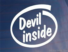 DEVIL INSIDE Funny Novelty Car/Van/Truck/Window/Bumper Vinyl Sticker/Decal