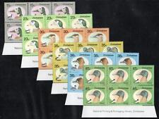 ZIMBABWE MNH 1988 Ducks and Geese Imprint Block of 6