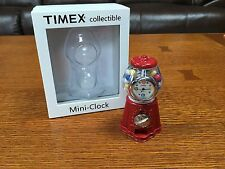 "Timex ""Red Gum Ball Machine"" Mini Clock ~ 3"" x 2"" x 2"" ~ w/Box ~Collectible ~New"