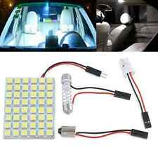 New Car Pure White 48 SMD 5050 LED Light Lamps Panel T10 Festoon Dome BA9S 12V