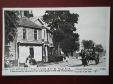 POSTCARD RP LONDON OLD MITCHAM - CHART'S STORE & THREE KINGS POND