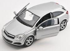 BLITZ VERSAND Opel Astra GTC silber / silver Welly Modell Auto 1:34 NEU & OVP