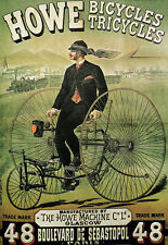 Deco - Howe Tricycle - Glascow - Bicycle - Cycle A3 Art Poster  Print
