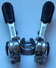 Vintage Shimano Stem Mount Friction Shift Double Levers w. Spiral Return Spings