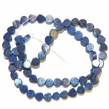 NG2545f Blue Lapis Lazuli 5mm Flat Teardrop Natural Gemstone Beads 15""