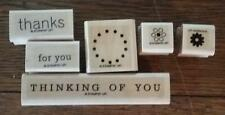 Stampin' Up! (Retired) THANKFUL THINKING (wood mount stamps) 6 pc
