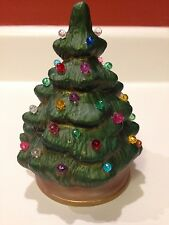 VINTAGE SMALL CERAMIC 5 INCH CHRISTMAS TREE ON BASE