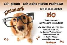 50 tierische Einladungskarten Hund Geburtstag jedes Alter Einladungen lustige