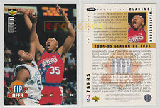 NBA UPPER DECK 1994 COLLECTOR'S CHOICE - Clarence Weatherspoon #185 Ita/Eng MINT
