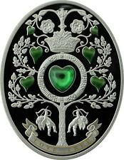 Niue 2013 $1 Imperial Fabergé Eggs - Love Tree 28.28g Silver Proof Coin Zirconia