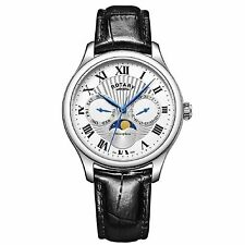 Rotary GS05065-01 Men's Moonphase Wristwatch
