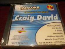 CHARTBUSTER 6+6 KARAOKE DISC 40475 CRAIG DAVID CD+G POP MULTIPLEX