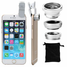 Fisheye Wide Angle Macro Selfie Zoom Lens Silver for iPhone 5s 6s 6 Plus DC264S