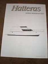 1996 HATTERAS 50 SPORT DECK MOTOR YACHT MARKETING / SPECIFICATIONS BROCHURE