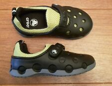Croc duet Orb sneaker candy black/green size c10 new