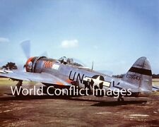 USAAF WW2 Republic P-47 Fighter Pat 8x10 Nose Art Color Photo 56th FG WWII