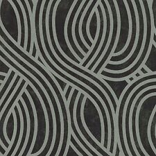 Carat Black and Silver Glitter Art Deco Wallpaper Paste the Wall Vinyl 13345-30