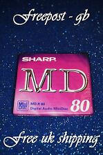 A SHARP RECORDABLE BLANK MINIDISC - 80 MINUTES - BRAND NEW BOXED  MD-R80