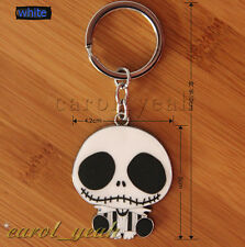 Nightmare Before Christmas Jack Metal Key Ring Chain Keyring New w Packing white