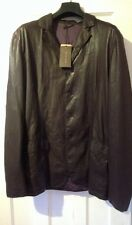 BNWT Bottega Veneta Butter Soft Leather Shirt Jacket  Size 52