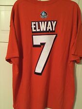 John Elway Majestic NFL Hall of Fame T-shirt Men's 2XL Orange