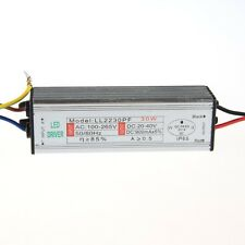 30w Waterproof IP67 Led Driver Constant Current Led Power Transformer DC 20-40V