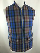 Paul Smith Jeans Primalopt Men's L (M) Plaid Full Zip Vest Jacket Lined