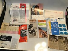Large lot of  Sales Brochure: Alpa, Olympus, Tessina, Minox, Rollei,