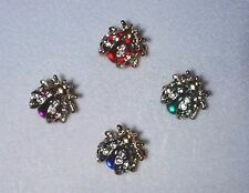 Four lady-bug Brooches, Colorful, attention-getting