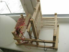 Old  Wooden Sweden Tabletop Weaving Loom