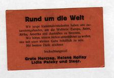 GLOBE TROTTEUR / Grete HERCZEG, Helene HOLLAY, Lidia PATAKY / Carte de visite