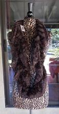 Awesome New Leopard Print Fake Fur Blend Infenity Pretty Angel Dark Brown Scarf