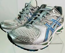 ASICS GEL Kayano 16 #T050N White & Teal Blue Track, Running, Athletic Shoes 6