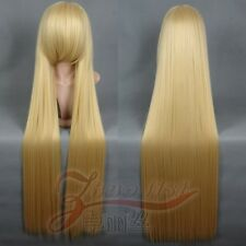 "Chobits Chii 120cm/47"" Cream Blond Long Straight Cosplay Wig"