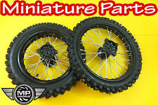 PIT BIKE WHEELS 14INCH FRONT 12INCH REAR WHEEL WPB M2R LMX CRF70 CRF50 WID SEALS