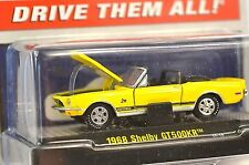 FORD SHELBY MUSTANG GT500KR CONVERTIBLE 1968 1:64 M2 MACHINES 31600 NEW YELLOW