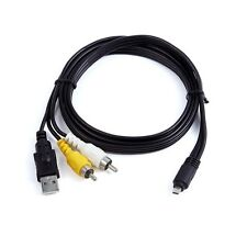 3in1 USB Charger Data+A/V TV Cable For Olympus Stylus VR-370 VH-410 VG-190 SZ-15