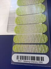 Half Sheet Jamberry Color Of The Year 'Glittering Greenery' Nail Wrap Pre-Order