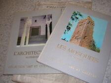 1974.lot 2 livres architecture + mosquée en Algérie.nbses ill.