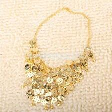 5pcs Gold Costume Jewelry Set Coin Necklace Bangle Earrings for Belly Dancing
