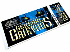 PLAQUE STICKER for LEGO 10186 GENERAL GRIEVOUS ,Toy displays, etc. 2 SIZES!