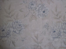 "RALPH LAUREN CURTAIN FABRIC ""Moonbeach Floral"" 3.35 METRES CELESTIAL BLUE VOILE"