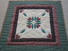 Amish Quilt Wall Hanging, or Throw from Lancaster Pa. 40x40 Applique Rose
