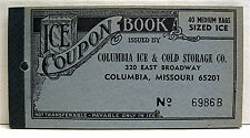 Columbia Mo Ice Coupon Booklet Unused 40 Med Bag Coupon