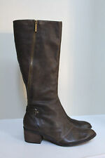 New Donald J. Pliner Women's Dalee Green Leather Knee High Boot Heel Shoes sz 11