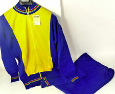 1980'S wool Cycle training suit Made in Italy Vintage Bicycle Size 5 Yellow NOS