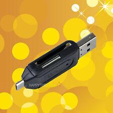 Black Universal Card Reader Android Phone USB 2.0 OTG Micro SD / SD Flash Memory