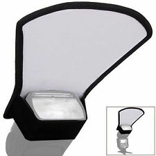 Flexible Two Side Double Flash Diffuser Reflector Silver/White For Camera flash