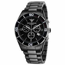 *NEW* EMPORIO ARMANI AR1421 CLASSIC STYLE BLACK CERAMICA WATCH - RRP £499.00