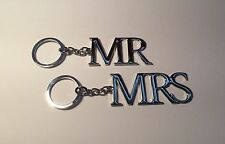 Silver Plated Mr & Mrs Keyrings Wedding & Engagement Present Gift Ideas WG278